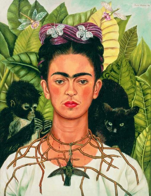 Frida Kahlo Autoritratto con collana di spine 1940